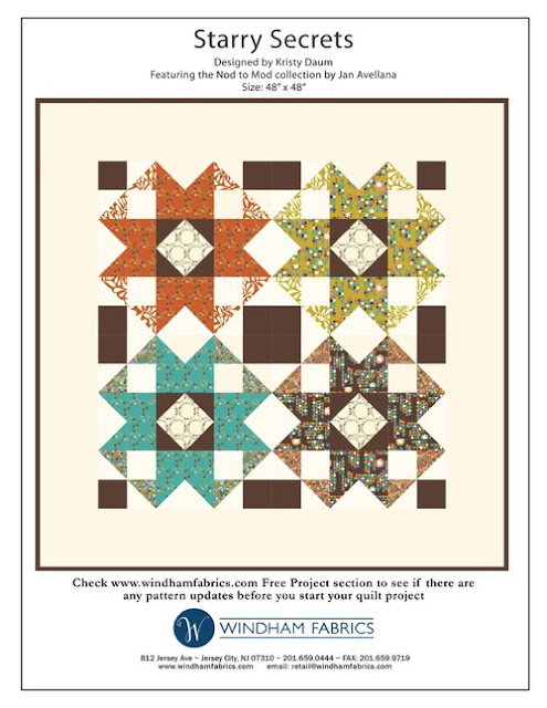 Starry Secrets // Quilt pattern by Kristy Daum for Windham Fabrics