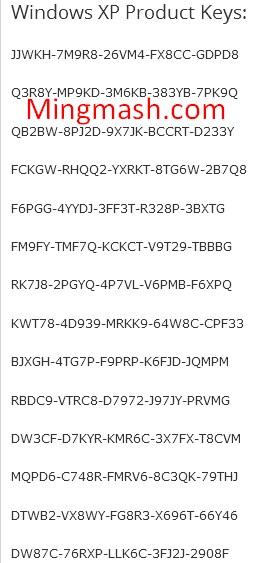 windows xp sp3 serial number