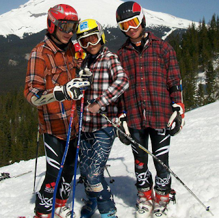 Skiers in Flannel