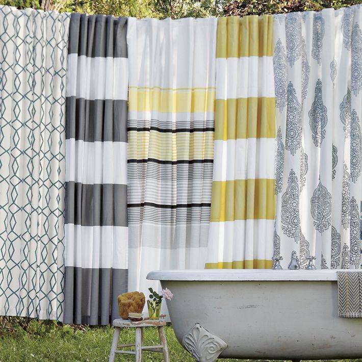 Hjem interiør design: charmerende gule bruser gardiner til dit ...