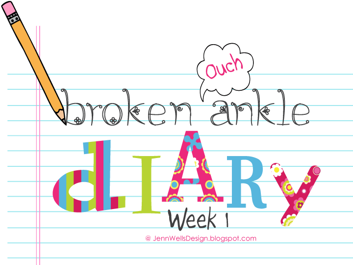 Broken Ankle Diary Week 1