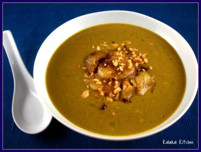Kahakai Kitchen: Curried Peanut Soup with Banana Topping: Unique ...