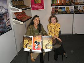 Autografando com a escritora Claire Leron