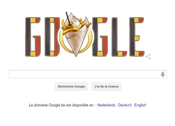 Google se met aux couleurs de la Belgique