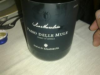 Red - Sicily - Passo Delle Mule - Nero d'Avola - Duca Di Salaparuta (Winery) - 2008 Place : La Battigia, Trattoria (Acireale)