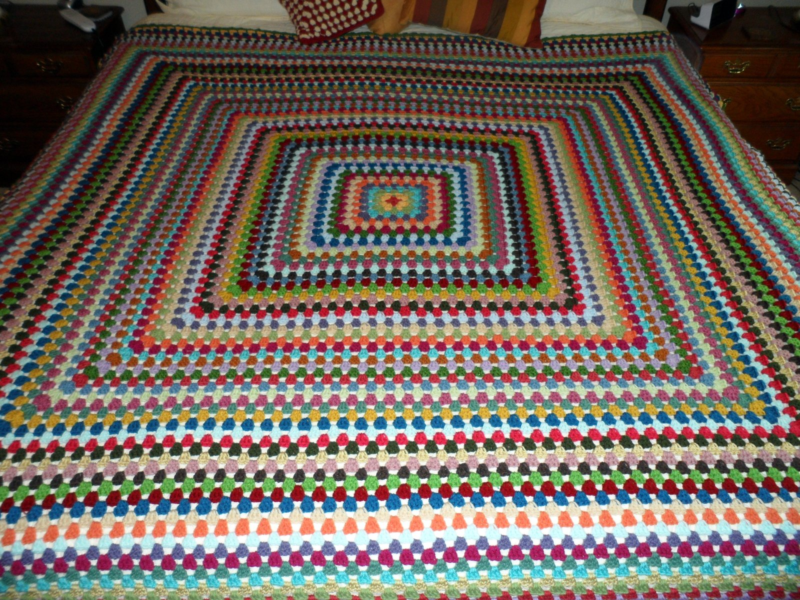 Free Crochet Pattern For Giant Granny Square Afghan : Easy Crochet Pattern: Giant Crocheted Granny Afghan