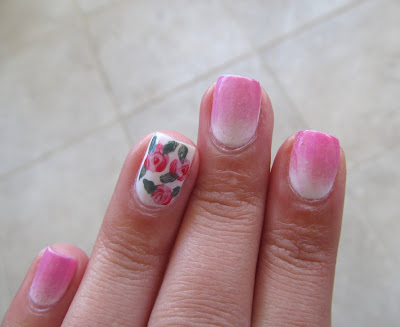 delicate flower manicure Sinful Colors - Starfish & Sinful Colors - Pink Forever MUA All Nude