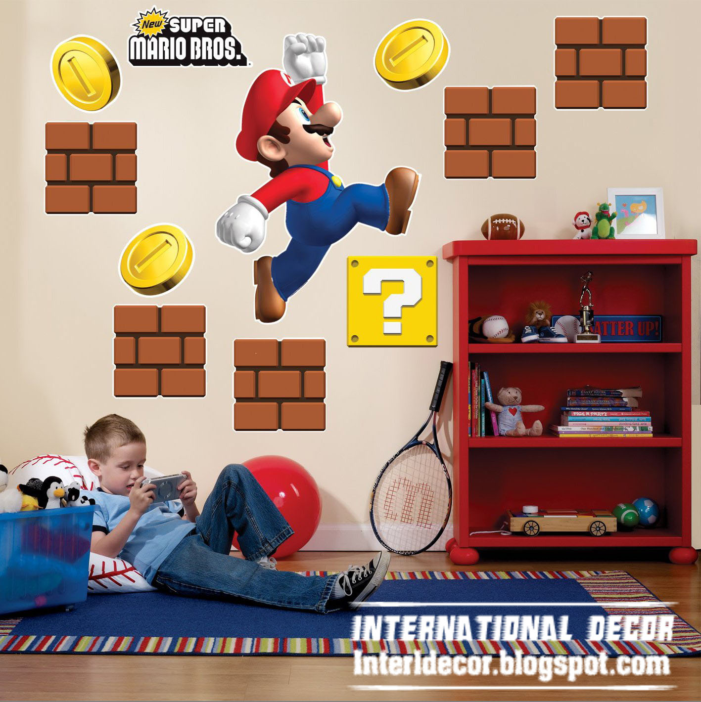 Interior Decor Idea: Super Mario wall stickers, Mario kids room ...