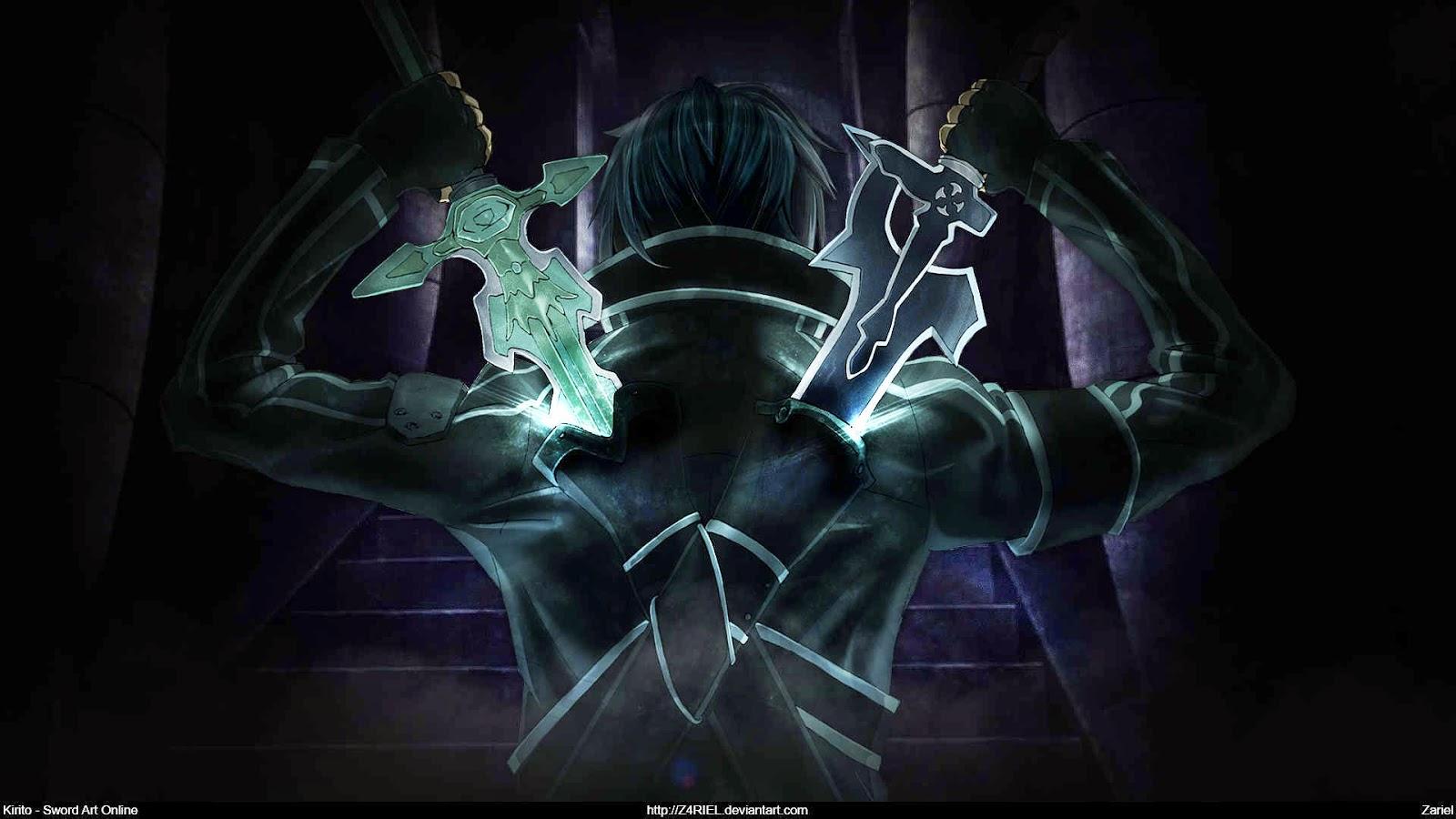 Kirito Sword Art Wallpaper Hd Wallpaper And Desktop Background