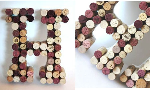 Over the course of your engagement collect corks from