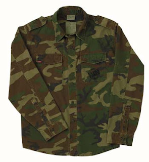 Camouflage Shirts Woodland Camo Vintage Fatigue Shirt