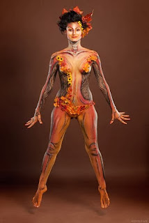 Chinese Body Painting Women