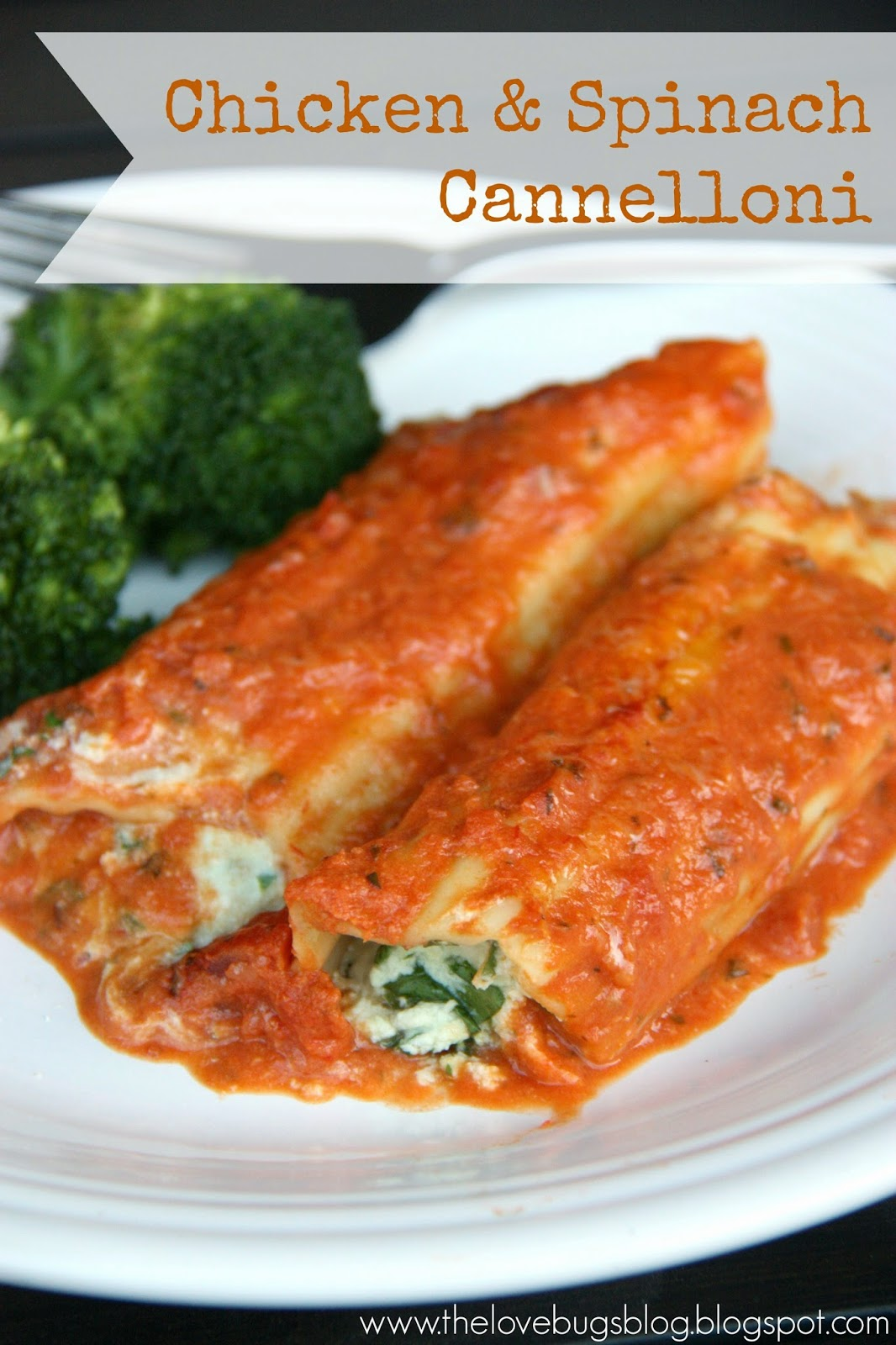 Chicken and Spinach Cannelloni with Pink Sauce