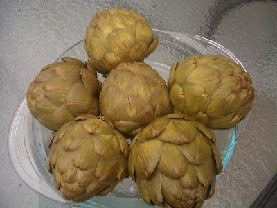 artichokes in a bowl on Gluten Free A-Z blog