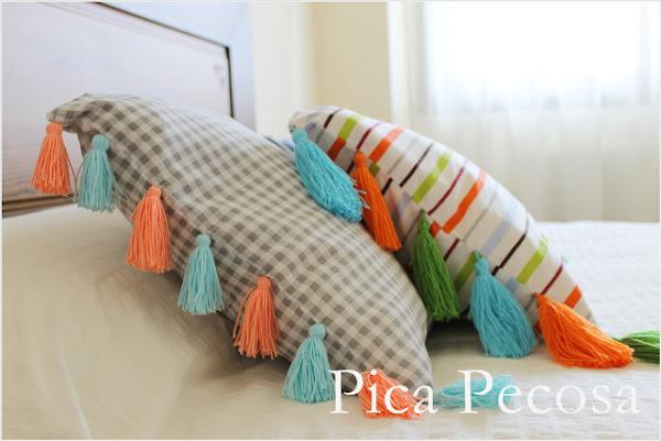 Cojin almohada aprender manualidades es - Como hacer borlas de hilo ...