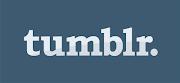 tumblr logo rectangle white on blue