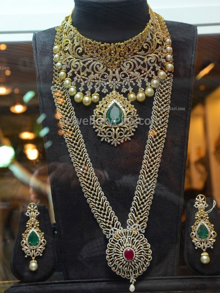 indian diamond necklace set