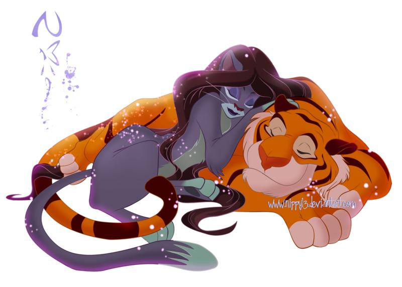 Disney cast fel deos da disney parte 10 jasmine e rajah - Tigre de jasmine ...