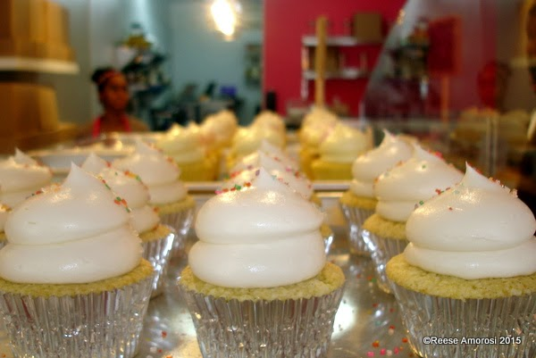 Cupcakes at The Sweet Life Bakeshop on South Street in Philadelphia