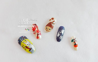 Korean thanksgiving nail arts