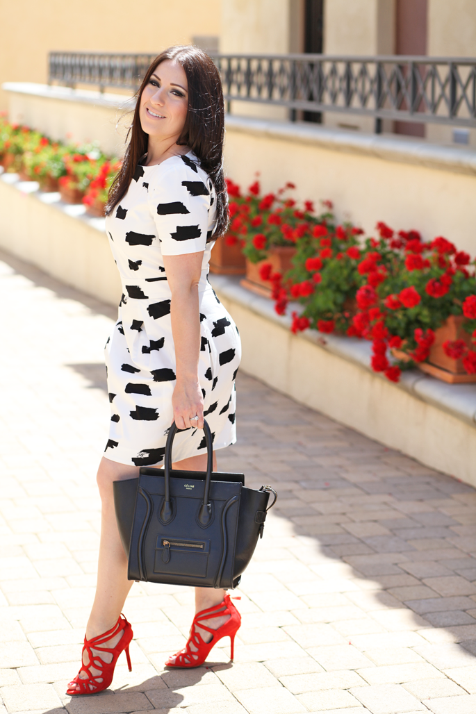 Black and white spring dresses | Dressing room blog on Black And White Dress Outfits