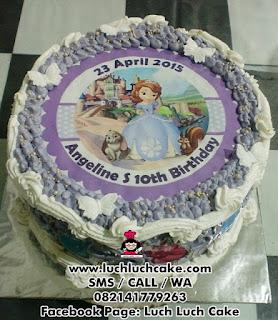 Kue Tart Edible Sofia The First Daerah Surabaya - Sidoarjo