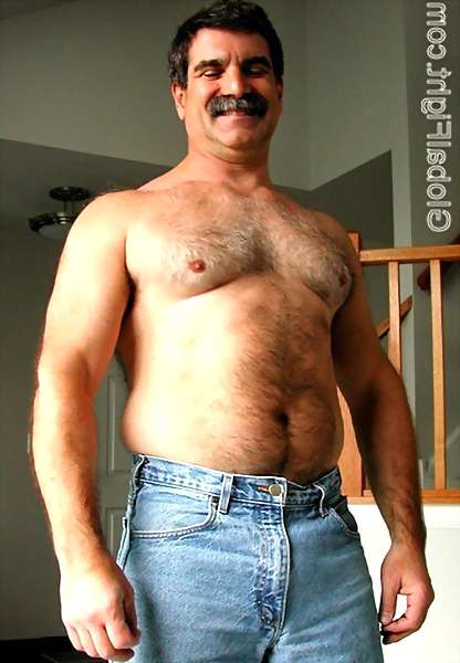 image of hairy chested men