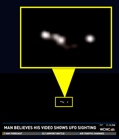 Man Catches UFO On Video - Charlotte North Carolina 10-11-14