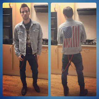 American Flag American Apparel Denim Jacket