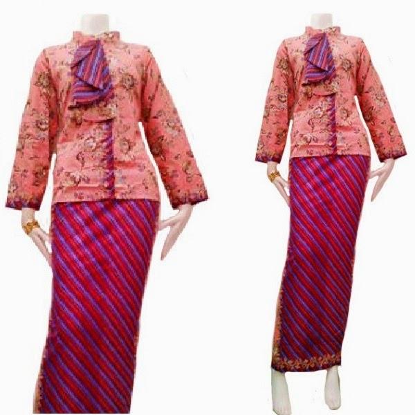 Dress Muslim Batik Pramugari