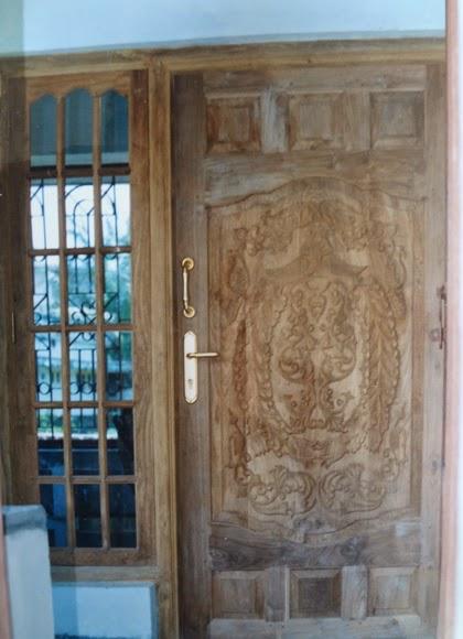 Latest wooden door models kerala design wood works wood for Main door model