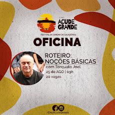 ROTEIRO BÁSICO com Torquato Joel. 25/08, às 9h. 20 vagas