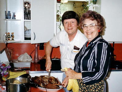 Granny would always cook a goose for Dad when he came to visit.