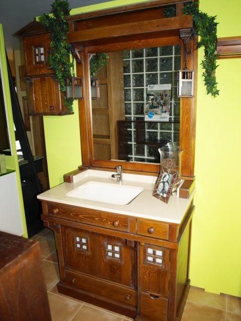 Dise os de muebles para ba os de madera decoractual - Muebles antiguos para banos ...