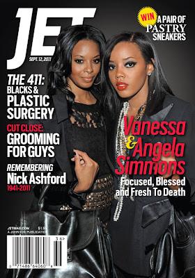 Vanessa et Angela Simmons en couv' de Jet Magazine