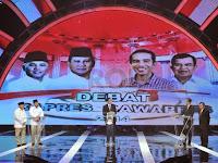Ternyata Prabowo Hatta dan Jokowi JK Nyanyi Bareng di Debat Capres-Cawapres Pertama
