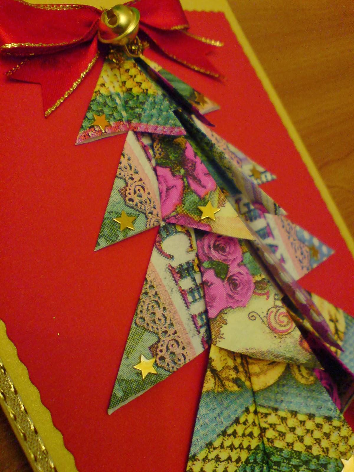 basteln und gestalten blog origami weihnachtskarte. Black Bedroom Furniture Sets. Home Design Ideas