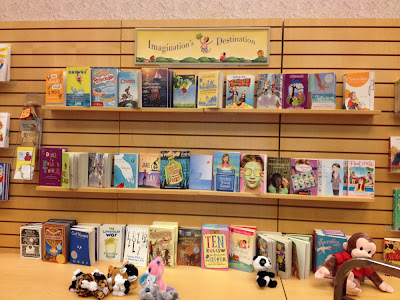 Photo of main display in children's book area