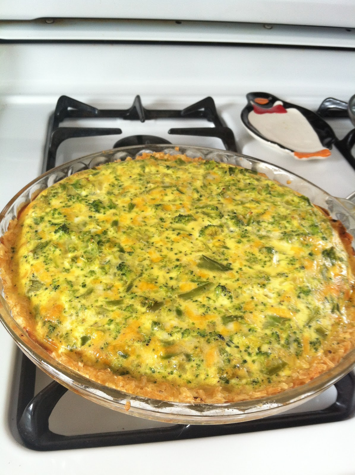 Broccoli Cheese Quiche + Brown Rice Crust