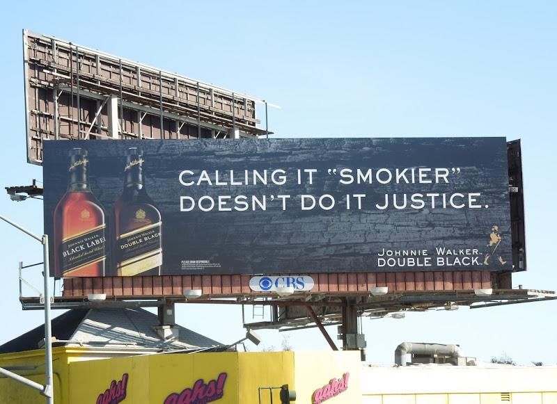 smokier justice Johnnie Walker Double Black billboard