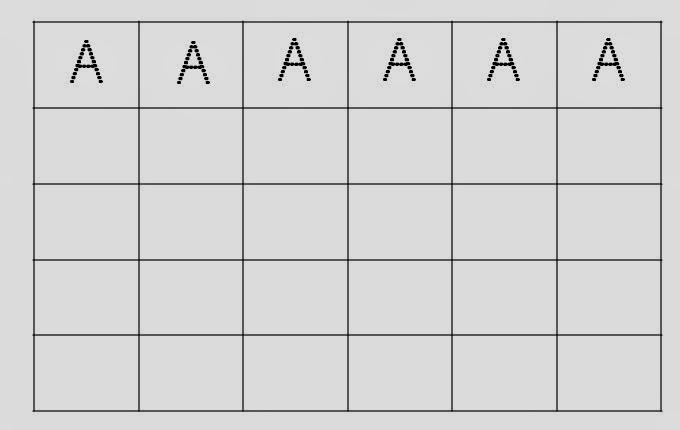 Alfabeto Pontilhado Letra A