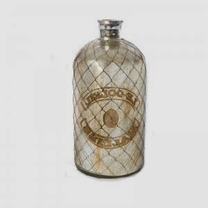 Mercury Glass Bottle with Wire