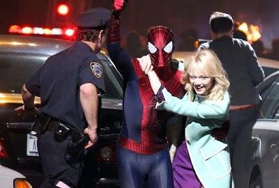 Escena de la nueva película de Spiderman que se estrenará en Abril de 2014 ;-)