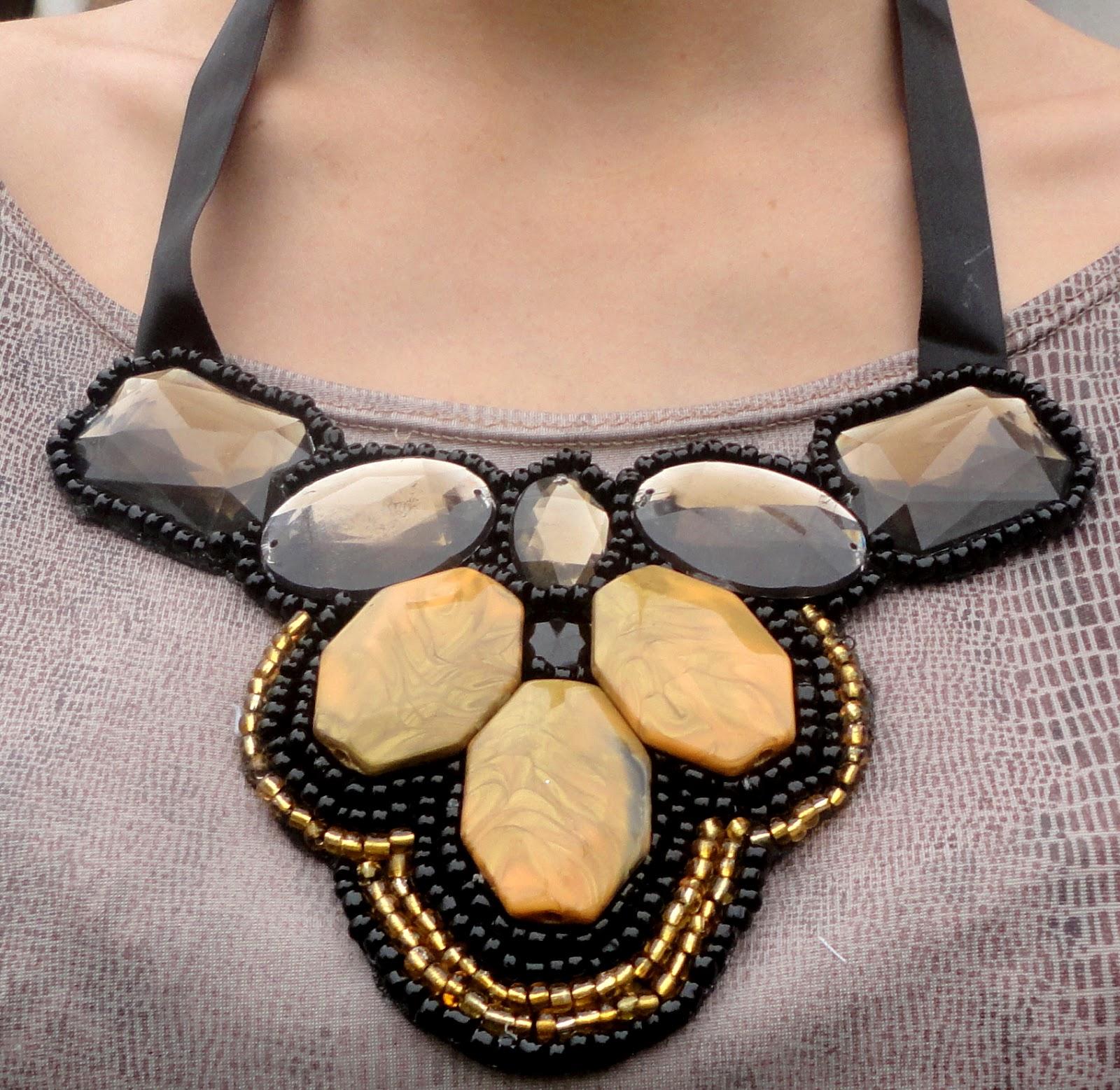 Ожерелье из воротника своими руками
