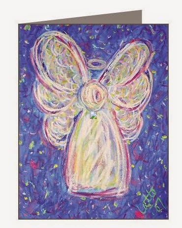 Starry Night Angel Note Card