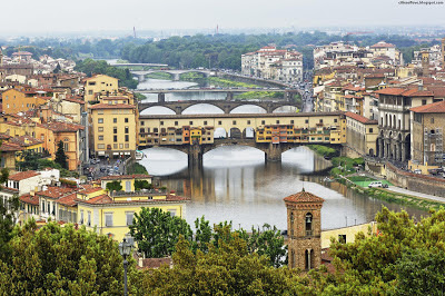 Florence Ponte Vecchio Beautiful Italian Old Bridge Arno River Italy Hd Desktop Wallpaper