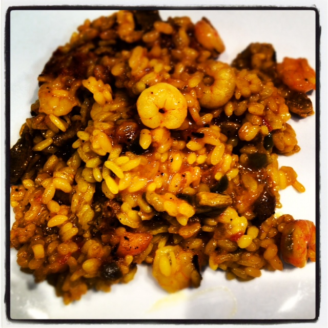 Gastro woman arroz de secreto iberico gambas y trufa for Arroz con setas y trufa