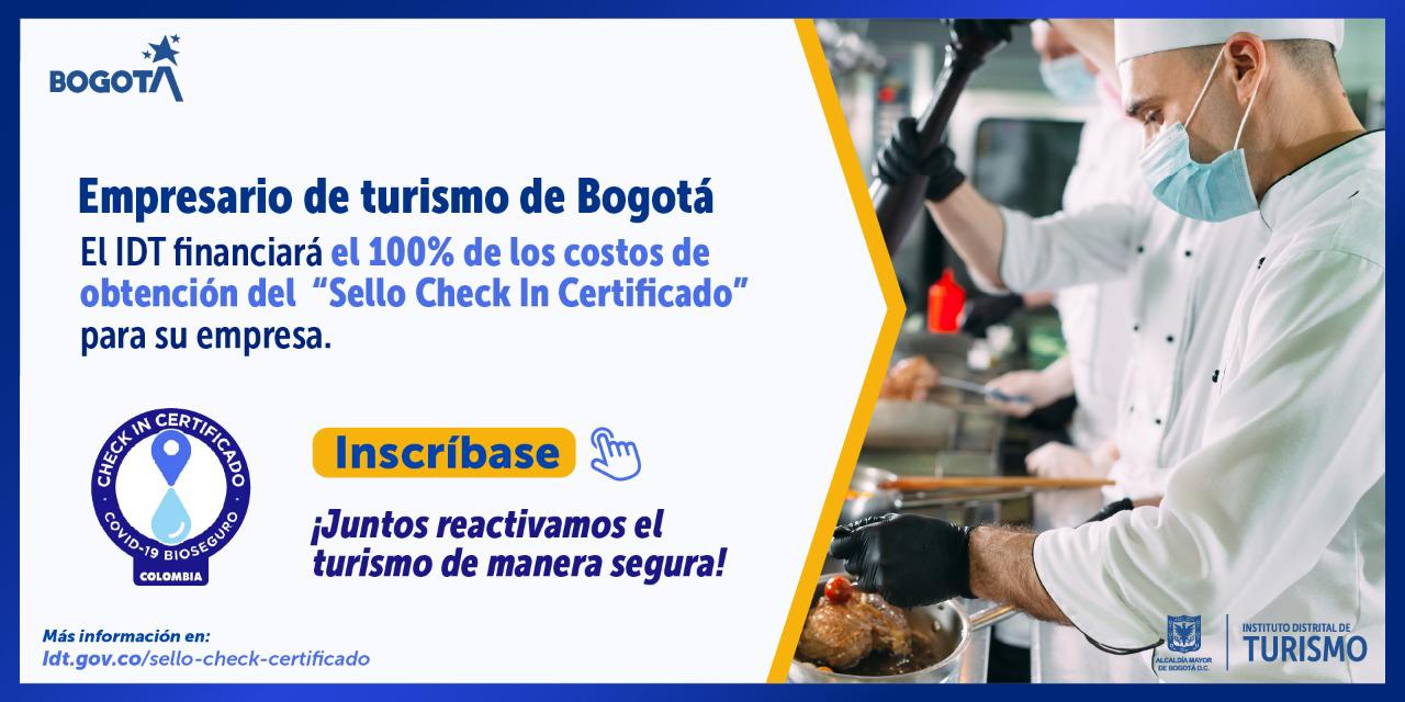 "IDT financia el ""Sello Check In Certificado"""