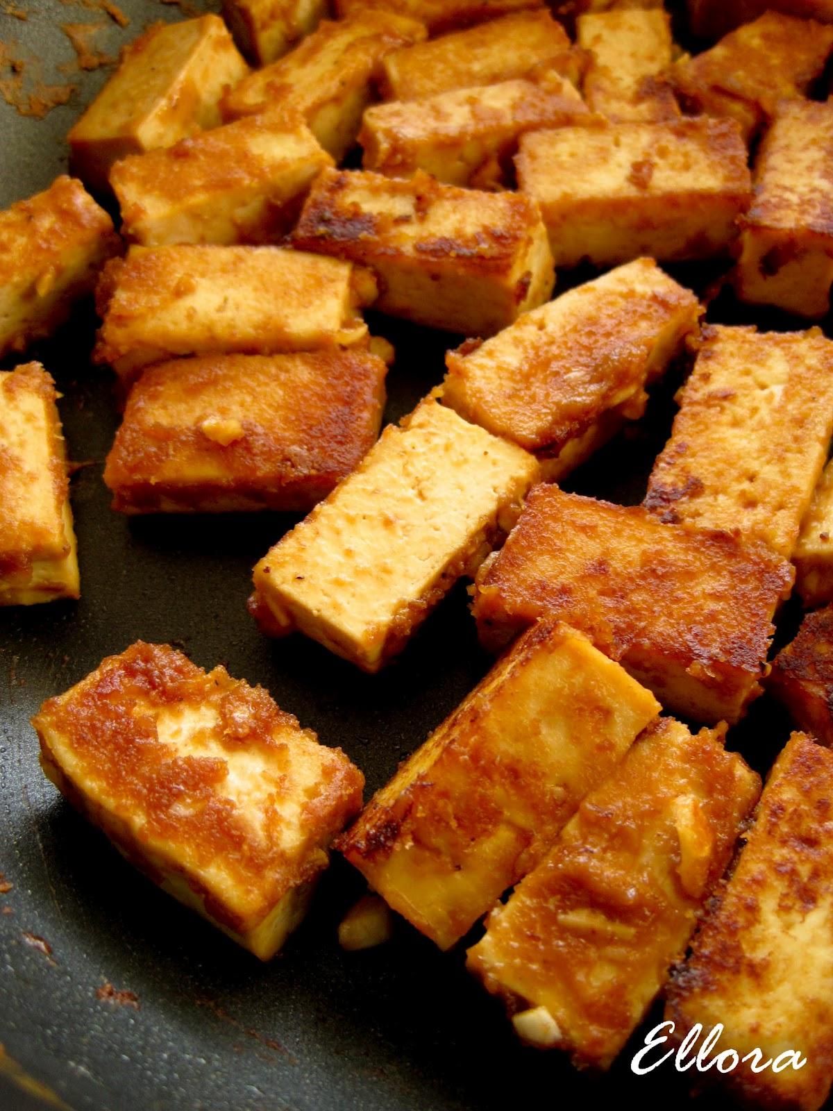retour vers la sant tofu sauce aux arachides. Black Bedroom Furniture Sets. Home Design Ideas