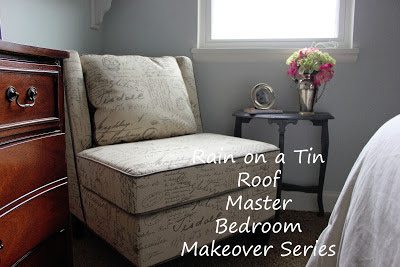 Master Bedroom Makeover Reveal {rainonatinroof.com} #masterbedroom #makeover #reveal #DIY